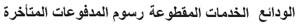 Late Deposits (In Arabic)